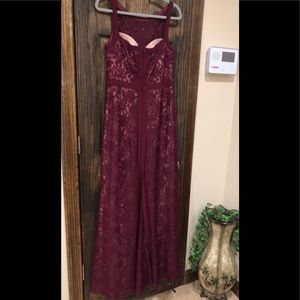 Formal Dress Size 12 Burgundy Red Prom Gown NW